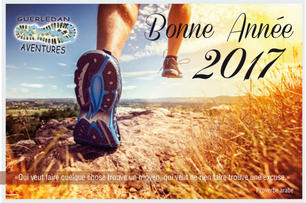 Guerledan Aventures vous souhaite une année de Bonheur, Santé et Running