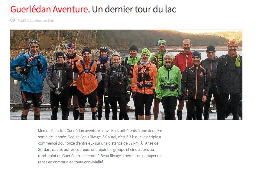 Tour du lac 31 decembre 2016